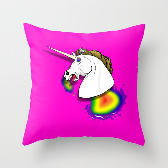 HOMOPHOBIA KILLS UNICORNS  Throw Pillow