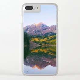 Sunrise at Maroon Bells Clear iPhone Case
