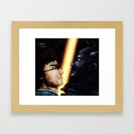 Confrontation Framed Art Print