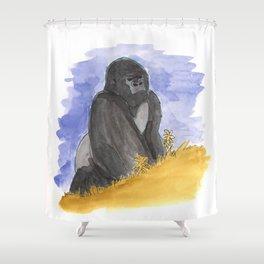 Silverback Gorilla Shower Curtain
