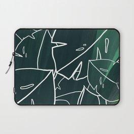 Green Monstera Leaf Laptop Sleeve