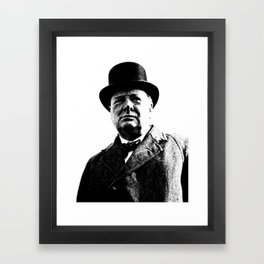 Abstract Portrait of Winston Churchill 1942 2 Framed Art Print