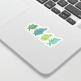 Inked Ferns – Green Palette Sticker