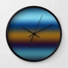 Dark Cerulean Russet Wall Clock