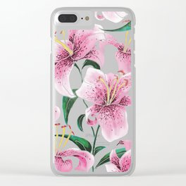 Tiger Lily Clear iPhone Case