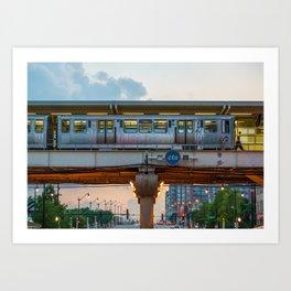 Train Platform in Chicago Art Print