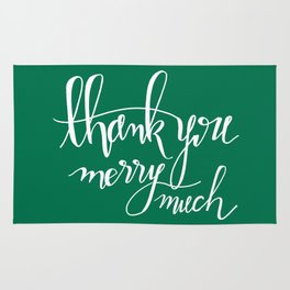 Thank You Merry Much - Green Rug