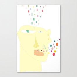 unbalanced thoughts Canvas Print