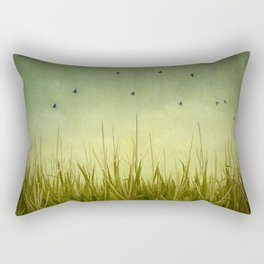 In the Field Rectangular Pillow