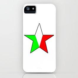 flag of Italia star - Italy,Italia,Italian,Latine,Roma,venezia,venice,mediterreanean,Genoa,firenze iPhone Case