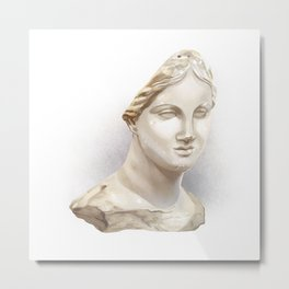 The Chios Head Metal Print