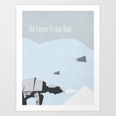 Empire Strikes Back movie poster. Art Print