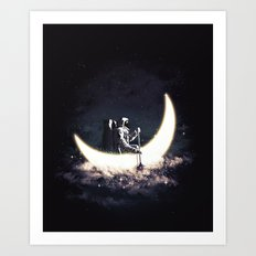 Moon Sailing Art Print