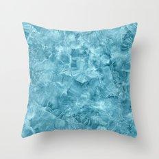 Blue onyx marble Throw Pillow