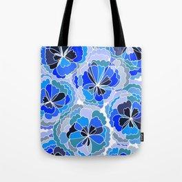 Floral Blue Tote Bag