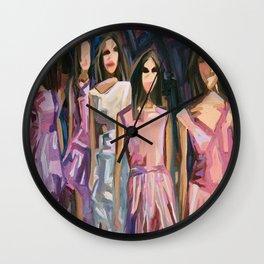Pink Parade Wall Clock