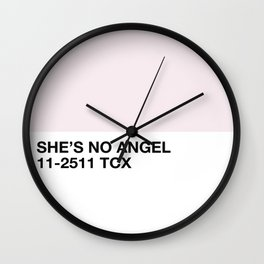 she's no angel Wall Clock