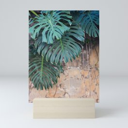Monstera Print, Tropical Green Beauty Mini Art Print