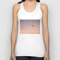 hot air balloons Tank Tops featuring vintage hot air balloons in rio by Bianca Green