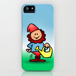 Gnome in the garden iPhone Case