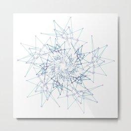 blue espiral Metal Print