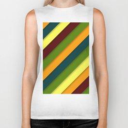 Color diagonal lines background Biker Tank