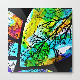 Between the song of the birds and the leaves that dance Metal Print