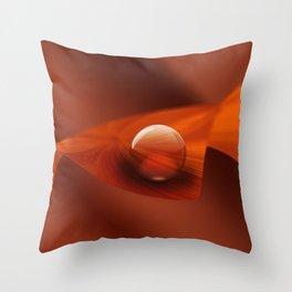 Orange Ball Throw Pillow