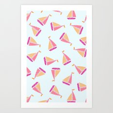 Girl Sailor Art Print