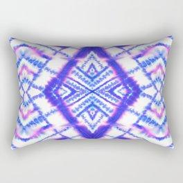 Dye Diamond Iridescent Blue Rectangular Pillow