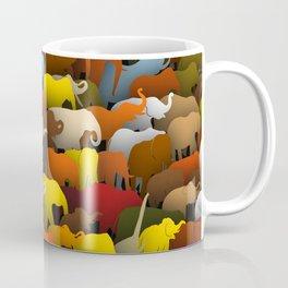 Elephants go left Coffee Mug