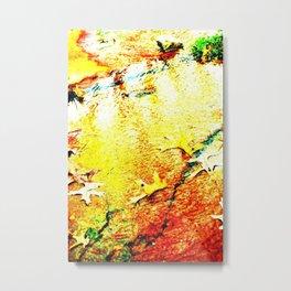 Golden river Metal Print