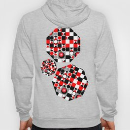 Cute Patterns in red, black and grey Hoody