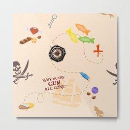 Pirates of the Candibbean  Metal Print