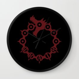 The Dragon's Sin of Wrath Wall Clock