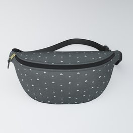 PPG Night Watch Pewter Green and White Polka Dots Circle Pattern Fanny Pack