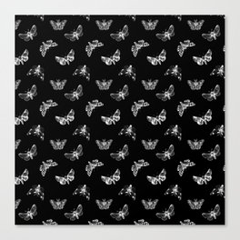 Autumn Night Moth Pattern Canvas Print