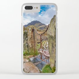 Gate To Tryfan Snowdonia Clear iPhone Case