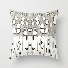 Inside White Ash Throw Pillow