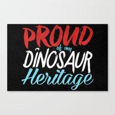 Dinosaur Heritage Canvas Print