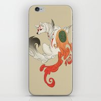 okami iPhone & iPod Skins featuring Okami Amaterasu  by Ectoimp