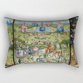 The Garden of Earthly Delights Rectangular Pillow