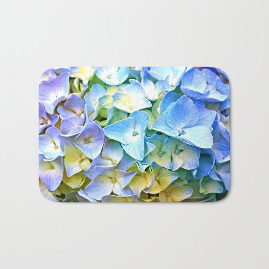 Soft Pastel Tri-Color Hydrangea Bath Mat