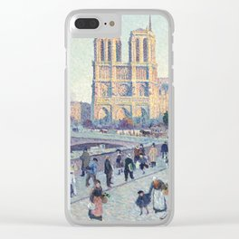 Maximilien Luce,  The Quai Saint-Michel and Notre-Dame Clear iPhone Case