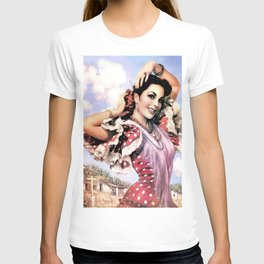 Jesus Helguera Painting of a Delightful Mexican Calendar Girl T-shirt