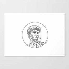THE LAST CIGARETTE Canvas Print
