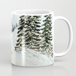 The Skiing Santa Coffee Mug