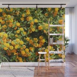 Blooming Lantana Plant Wall Mural