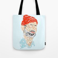 zissou Tote Bags featuring zissou by thom mirem
