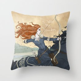 Brave Throw Pillow